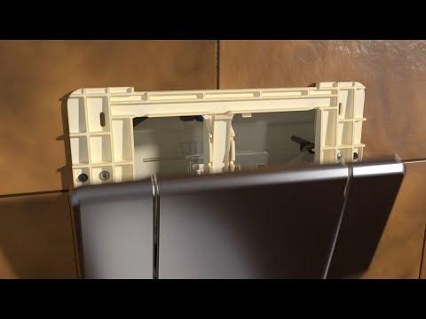 Austausch Geberit Betätigungsplatte Highline gegen Twinline30 - Installation