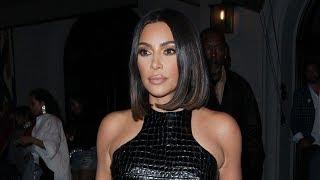 Kim Kardashian Sports ALL LEATHER Outfit!