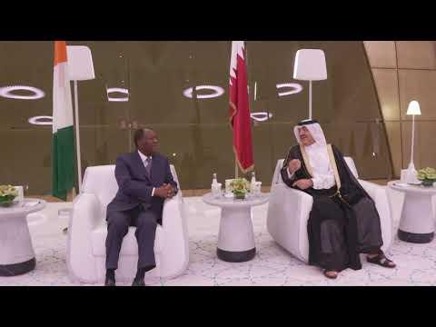Le Président de la République, Alassane OUATTARA, est arrivé à Doha pour une visite officielle