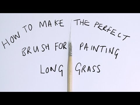 MAKING A BRUSH FOR PAINTING GRASS