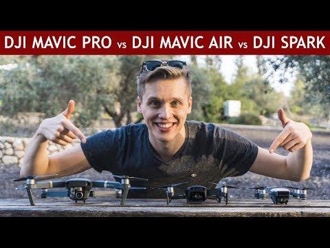 DJI Mavic Air vs. DJI Mavic Pro vs. DJI Spark | Drone Comparison - UCULVibcmK8-TOoDBjevhAvQ