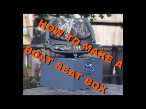 How To Make Fishing Boat Seat Boxes!