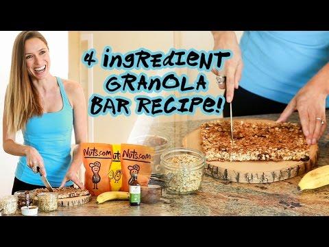 4 Ingredient Granola Bar Recipe | Healthy Snack | Nuts.com