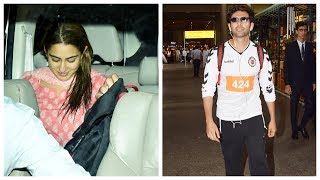 Sara Ali Khan blushes as she receives Kartik Aaryan at the airport