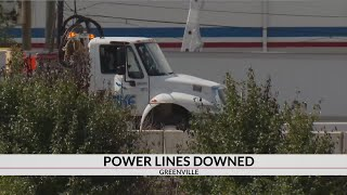 Traffic clear after power lines downed
