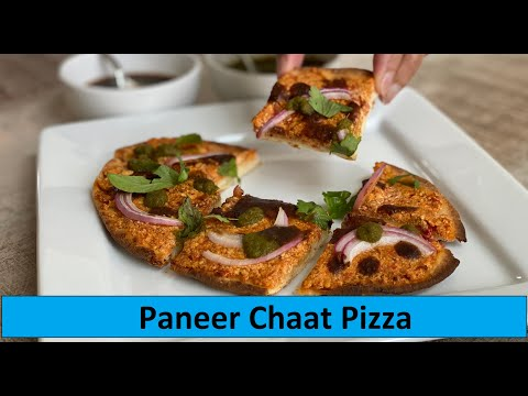 Paneer Chaat Pizza | Panir Flatbread | Show Me The Curry