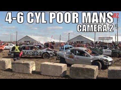 4-6 Cyl Poor Mans Car Class At Brigden Fair Demolition Derby 2018 Camera 2