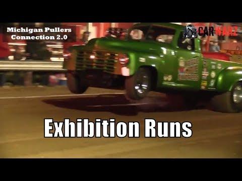 Exhibition Runs TTPA Truck & Tractor Pulls At Peck Michigan June 1 2018