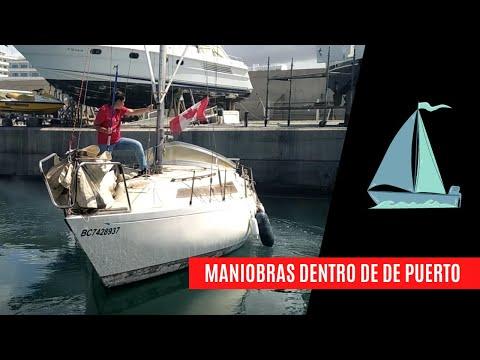 [MANIOBRAS DE PUERTO] Atracar y desatracar de punta velero de 27 piés con fueraborda (pantalán)