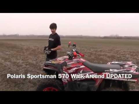 Polaris Sportsman 570 Walk Around UPDATED - AMR Racing Graphics