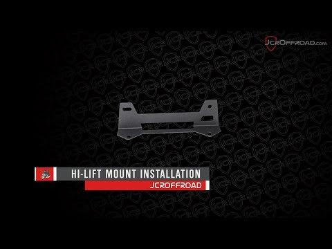 JcrOffroad - JK Wrangler Shield Carrier Hi-Lift Mount Installation