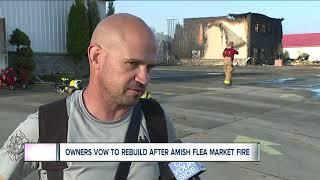 Massive fire destroys portion of cherished Walnut Creek Amish Flea Market in Sugarcreek