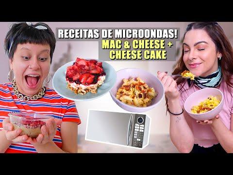 Mac&Cheese e Cheese Cake Testando Receitas de Microondas!