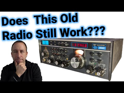 Classic Ham Radio: Does this 40 Year old Drake TR7 Still Work???