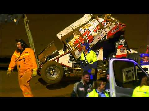 360 Sprintcar All Star Challenge B-Main Simpson Speedway 13-1-2018 - dirt track racing video image