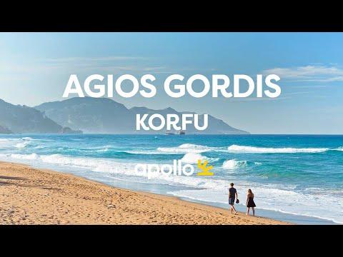 Vakre Agios Gordis på Korfu med Apollo