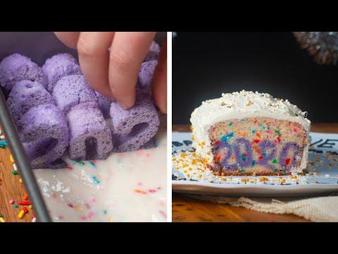 New Year's Typography Cake ?Tasty