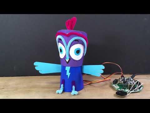 Minerva Owl Bot with Crickit and CircuitPython @adafruit @johnedgarpark #adafruit