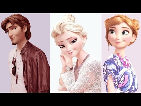 Disney & Dreamworks Character in Modern Clothing