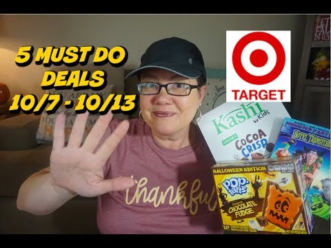 TARGET MUST DO DEALS THRU 10/13 | FOOD DEALS, RAZORS & MORE!