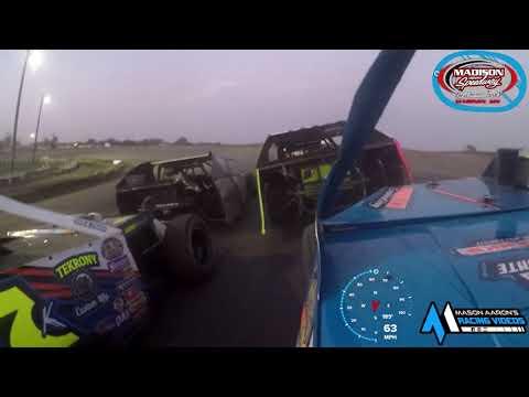 #34J Derek Rieck WISSOTA Midwest Modified On-Board @ Madison (10/3/21) - dirt track racing video image