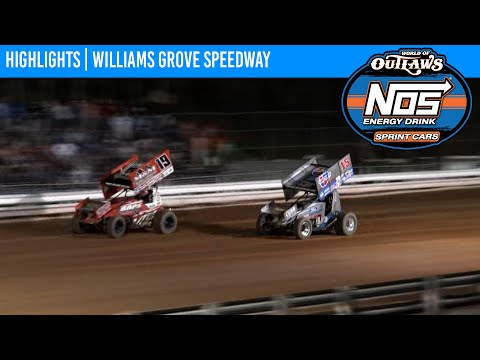 World of Outlaws NOS Energy Drink Sprint Cars Williams Grove Speedway, July 24, 2021 | HIGHLIGHTS - dirt track racing video image