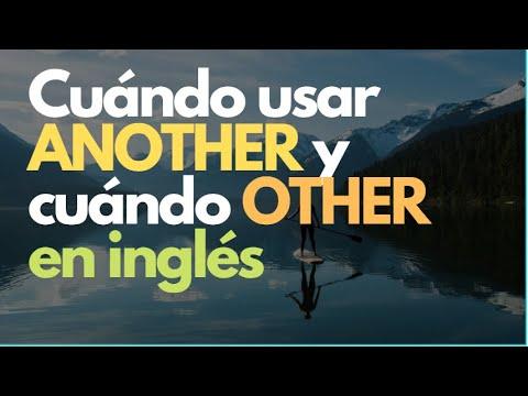 ¿Cuándo usar ANOTHER y cuándo usar OTHER en inglés?