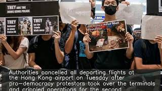 Hong Kong cancels all departing flights for 2nd day amid protests
