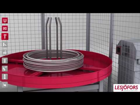 Lesjöfors compression spring manufacturing process