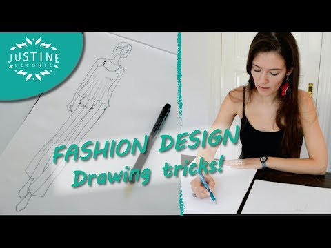 How to draw: fashion designer tricks | Fashion drawing tutorial | Justine Leconte - UChxkFSjTE7nLCHsDk8_pRhg