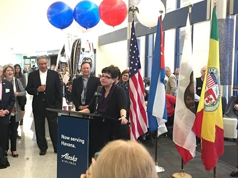 UW President Ana Mari Cauce on board first West Coast commercial flight to Havana