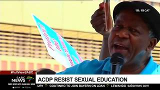 DISCUSSION: ACDP against explicit sexual education in schools