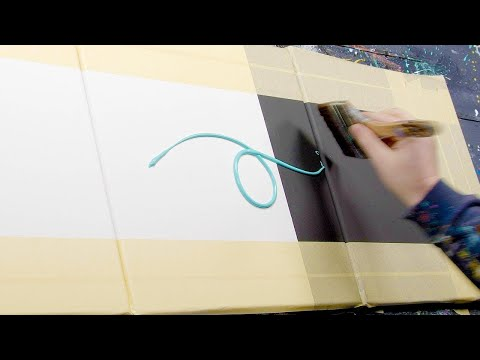 377 PAINT SPLASHES / EASY ABSTRACT PAINTING DEMO | Cetero