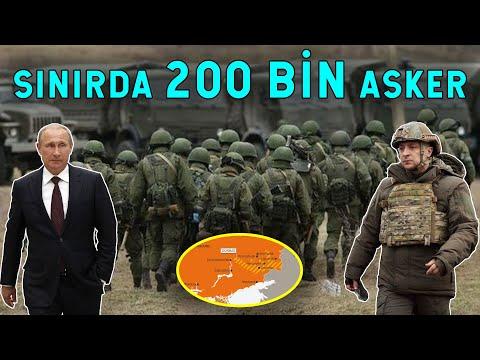 200 BİN ASKER GÖDERDİ! Rusya Ukrayna Sınırı Kaynıyor!