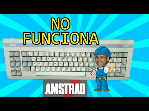 REPARACION TECLADO AMSTRAD 1640 NO RECONOCE TECLADO BLOQUEA EL ARRANQUE