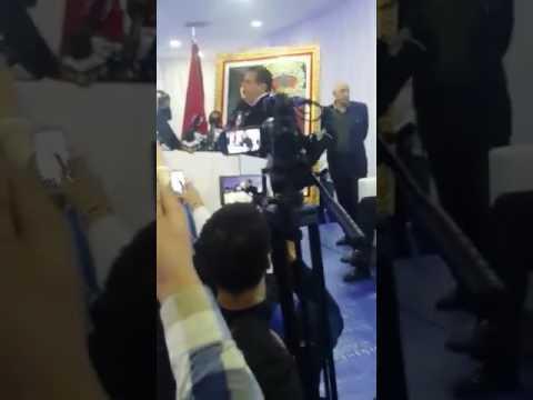 Mohamed Dekkak attending the Caravane of Aziz Akhannouch RNI Casablanca