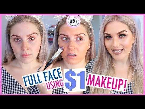 $1 MAKEUP FULL FACE! ?? First Impressions Tutorial ? Shop Miss A