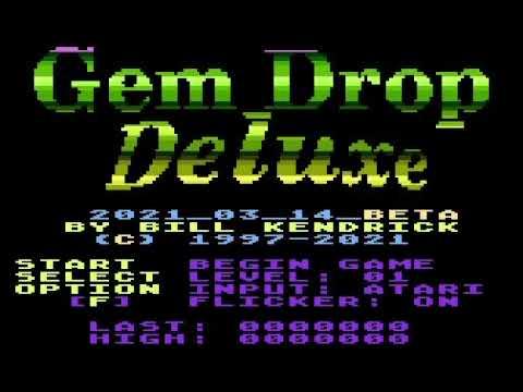 Gem Drop Deluxe for Atari 8 bit computers