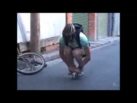 Man Rides Worlds Smallest Bicycle