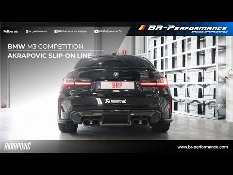 BMW S58 (M3 & M4) Sound Comparison / Stock vs Akrapovic  / By BR-Performance