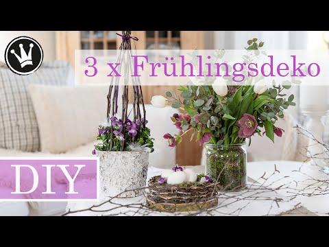 DIY – FRÜHLINGSDEKO 3 Ideen zum selber machen | Basteln mit Kindern | Tischdeko Ostern | VERLOSUNG