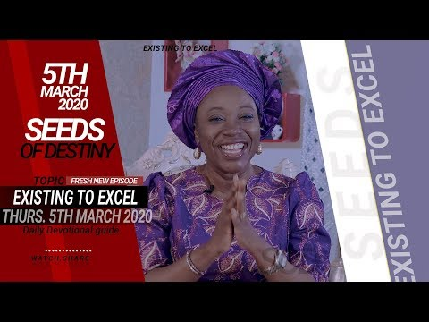 Dr Becky Paul-Enenche - SEEDS OF DESTINY - THURSDAY, 05 MARCH, 2020