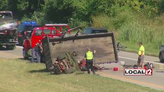 One injured in Ronald Reagan crash involving trailer with lawn care equipment