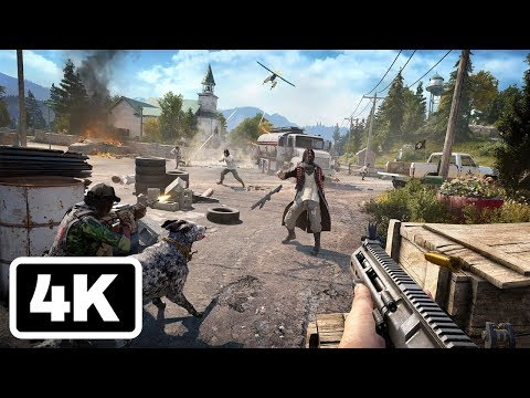 20 Minutes of Far Cry 5 Fly, Fishing, and Killing Gameplay in 4K - PSX 2017 - UCKy1dAqELo0zrOtPkf0eTMw