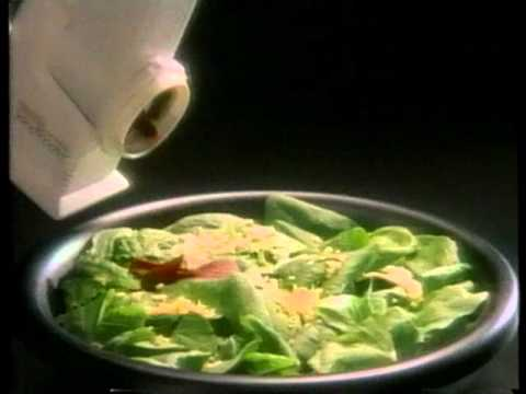Presto SaladShooter Electric Slicer-Shredder Commercial (1989)