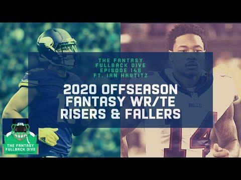 2020 Offseason Fantasy Risers & Fallers, Pt. 2: WRs/TEs ft. Ian Hartitz | Fantasy Football Podcast