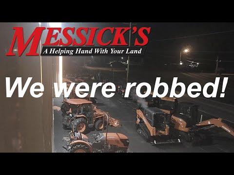 Kubota Theft & Recovery @Messick's Equipment Picture