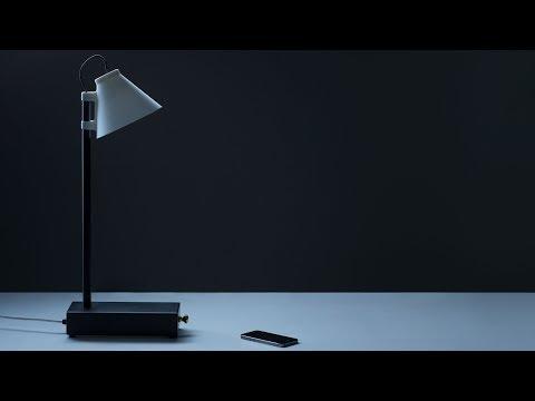 Klemens Schillinger's lamps supply electricity in exchange for users' smartphones