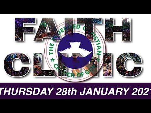 RCCG JANUARY 28th 2021 FAITH CLINIC