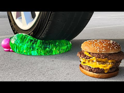 Crushing Crunchy & Soft Things by Car! - Floral Foam, Squishy, Tide Pods and More! - UC6gqv2Naj9JiowZgHfPstmg